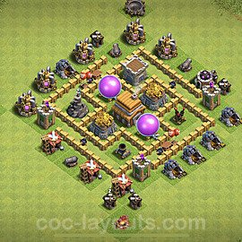 Base plan TH5 Max Levels with Link for Farming 2020, #101