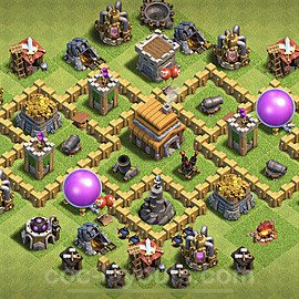 Base plan TH5 Max Levels with Link for Farming 2020, #103