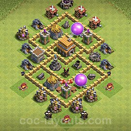 Base plan TH5 Max Levels with Link for Farming 2020, #104