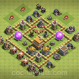 Diseño de aldea para farming - Copiar Ayuntamiento 5 al Maximo - Full COC TH5 Perfecta Distribucion 2021 + Enlace - #108