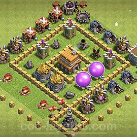 Diseño de aldea para farming - Copiar Ayuntamiento 5 al Maximo - Full COC TH5 Perfecta Distribucion 2021 + Enlace - #109