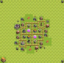Base plan Town Hall level 5 for farming (variant 11)