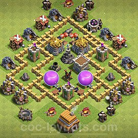 Diseño de aldea para farming - Copiar Ayuntamiento 5 al Maximo - Full COC TH5 Perfecta Distribucion 2021 + Enlace - #110