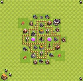 Base plan Town Hall level 5 for farming (variant 12)