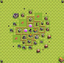 Base plan Town Hall level 5 for farming (variant 13)