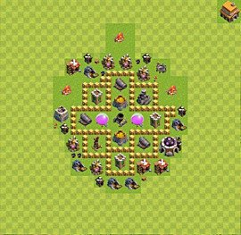 Base plan Town Hall level 5 for farming (variant 15)