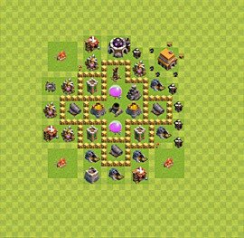 Base plan Town Hall level 5 for farming (variant 17)