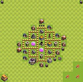 Base plan Town Hall level 5 for farming (variant 18)