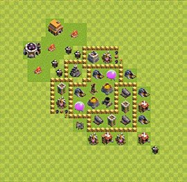Base plan Town Hall level 5 for farming (variant 20)