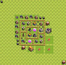 Base plan Town Hall level 5 for farming (variant 24)
