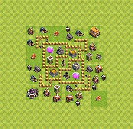 Base plan Town Hall level 5 for farming (variant 25)