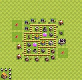 Base plan Town Hall level 5 for farming (variant 26)