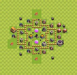 Base plan Town Hall level 5 for farming (variant 29)
