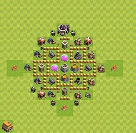 Base plan Town Hall level 5 for farming (variant 3)