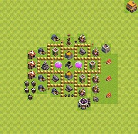 Base plan Town Hall level 5 for farming (variant 32)