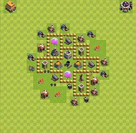 Base plan Town Hall level 5 for farming (variant 35)