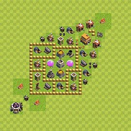 Base plan Town Hall level 5 for farming (variant 38)