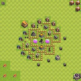 Base plan Town Hall level 5 for farming (variant 39)