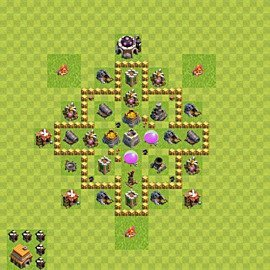 Base plan Town Hall level 5 for farming (variant 40)