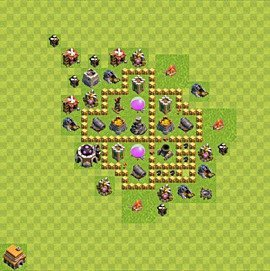 Base plan Town Hall level 5 for farming (variant 41)