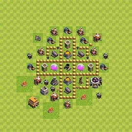 Base plan Town Hall level 5 for farming (variant 42)