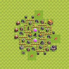 Base plan Town Hall level 5 for farming (variant 43)
