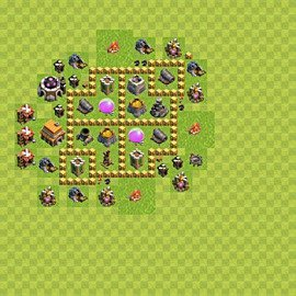 Base plan Town Hall level 5 for farming (variant 44)