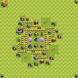 Base plan Town Hall level 5 for farming (variant 45)