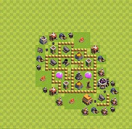 Base plan Town Hall level 5 for farming (variant 5)