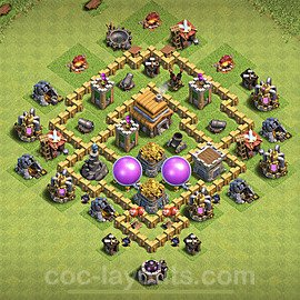 Base plan TH5 Max Levels with Link for Farming 2020, #52