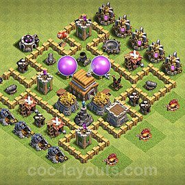 Base plan TH5 Max Levels with Link for Farming 2020, #54