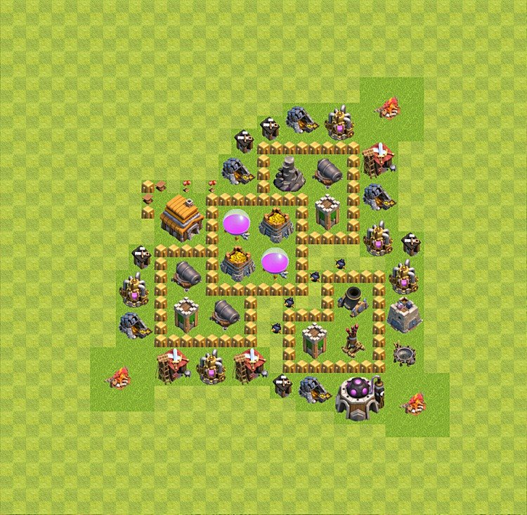 Base plan TH5 (design / layout) for Farming, #10