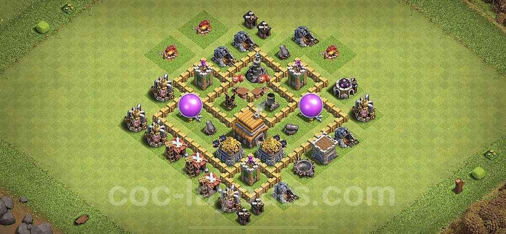 Base plan TH5 Max Levels with Link for Farming 2021, #108