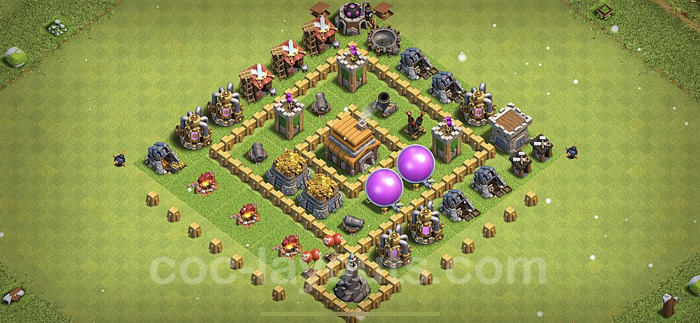 Base plan TH5 Max Levels with Link for Farming 2021, #109