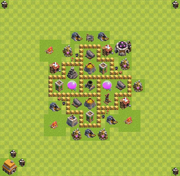 Base plan TH5 (design / layout) for Farming, #12