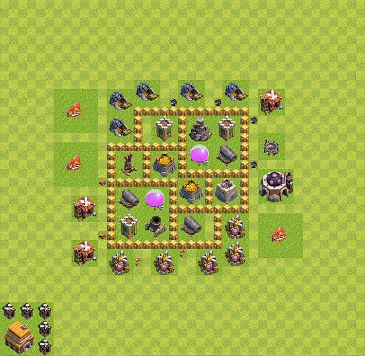 Base plan TH5 (design / layout) for Farming, #26
