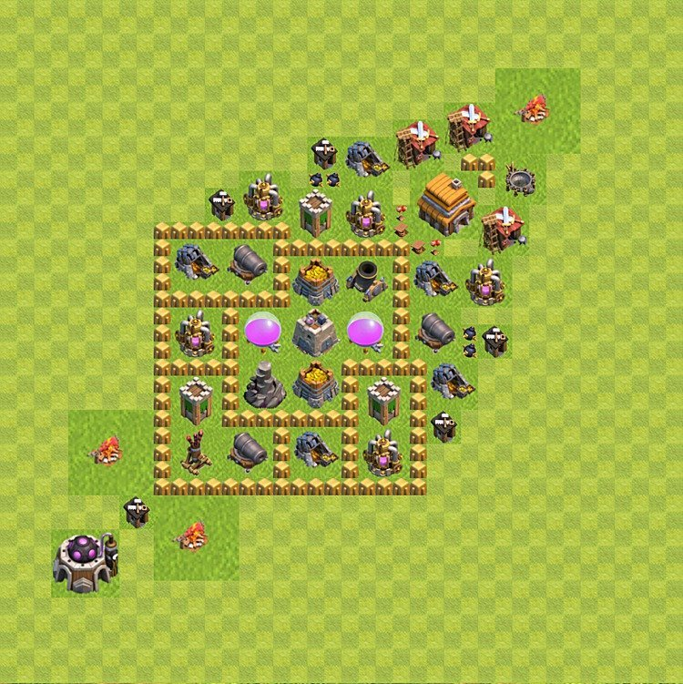 Base plan TH5 (design / layout) for Farming, #38