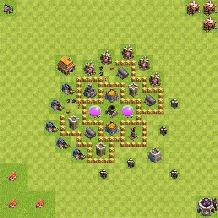 Base plan TH5 (design / layout) for Farming, #39