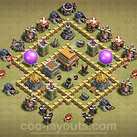 TH5 War Base Plan, Town Hall 5 Design 2020, #1