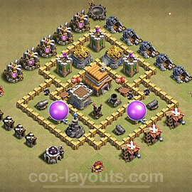 TH5 Anti 2 Stars War Base Plan with Link, Copy Town Hall 5 Design 2020, #2