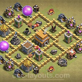 TH5 Max Levels War Base Plan with Link, Copy Town Hall 5 Design 2020, #3