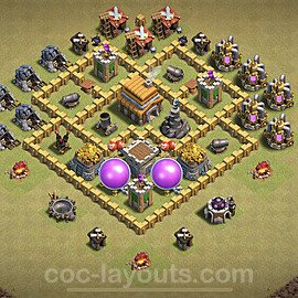 TH5 Anti 3 Stars War Base Plan with Link, Copy Town Hall 5 Design 2020, #4