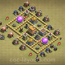 TH5 War Base Plan with Link, Copy Town Hall 5 Design 2020, #6