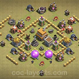 TH5 Anti 3 Stars War Base Plan with Link, Copy Town Hall 5 Design 2020, #8