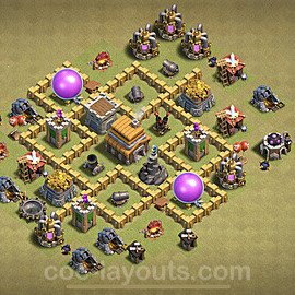TH5 Anti 2 Stars War Base Plan with Link, Copy Town Hall 5 Design 2020, #9
