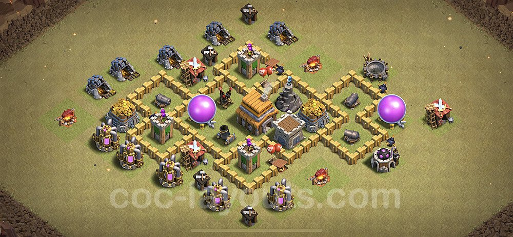 TH5 Max Levels War Base Plan with Link, Copy Town Hall 5 Design 2020, #10