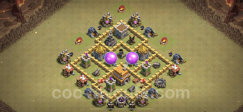 TH5 Anti 3 Stars War Base Plan with Link, Copy Town Hall 5 Design 2020, #14