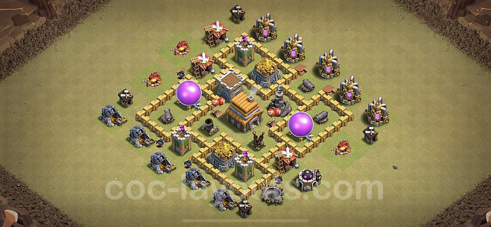 TH5 Anti 2 Stars War Base Plan with Link, Copy Town Hall 5 Design 2020, #5