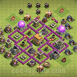 Anti Everything TH6 Base Plan with Link, Copy Town Hall 6 Design 2020, #145