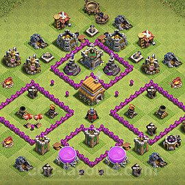 Anti Everything TH6 Base Plan with Link, Copy Town Hall 6 Design 2020, #148